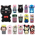 3d case for samsung galaxy S6 S7 edge silicone cartoon case mickey minnie mouse bear rabbit soft TPU cover for galaxy note 5