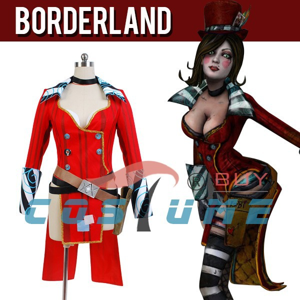borderlands 2 mad moxxi red women uniform outfit party
