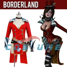 Borderlands 2 Mad Moxxi Red Women Uniform Outfit Party Clothe Halloween Cosplay Costumes For Women Custom Made