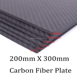 200mm X 300mm 0.5mm 1mm 1.5mm 2mm 3mm 4mm thickness Real Carbon Fiber Plate Panel Sheets High Composite Hardness Material for RC
