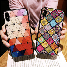 MA Funny Retro Tile Hard Glossy Face Chinese Style Silicone Fashion Phone Case For Iphone6 6S Plus 7 8Plus X XR XS Max Cover