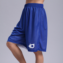 Хит, синие KD спортивные баскетбольные шорты, летние свободные двухсторонние эластичные мужские шорты до колена для бега и фитнеса