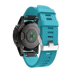 Image 3 - Correa de reloj de 20mm para Garmin Fenix 5S, correa de silicona de liberación rápida, ajuste fácil, correa de muñeca para Garmin Fenix 5S/5S Plus