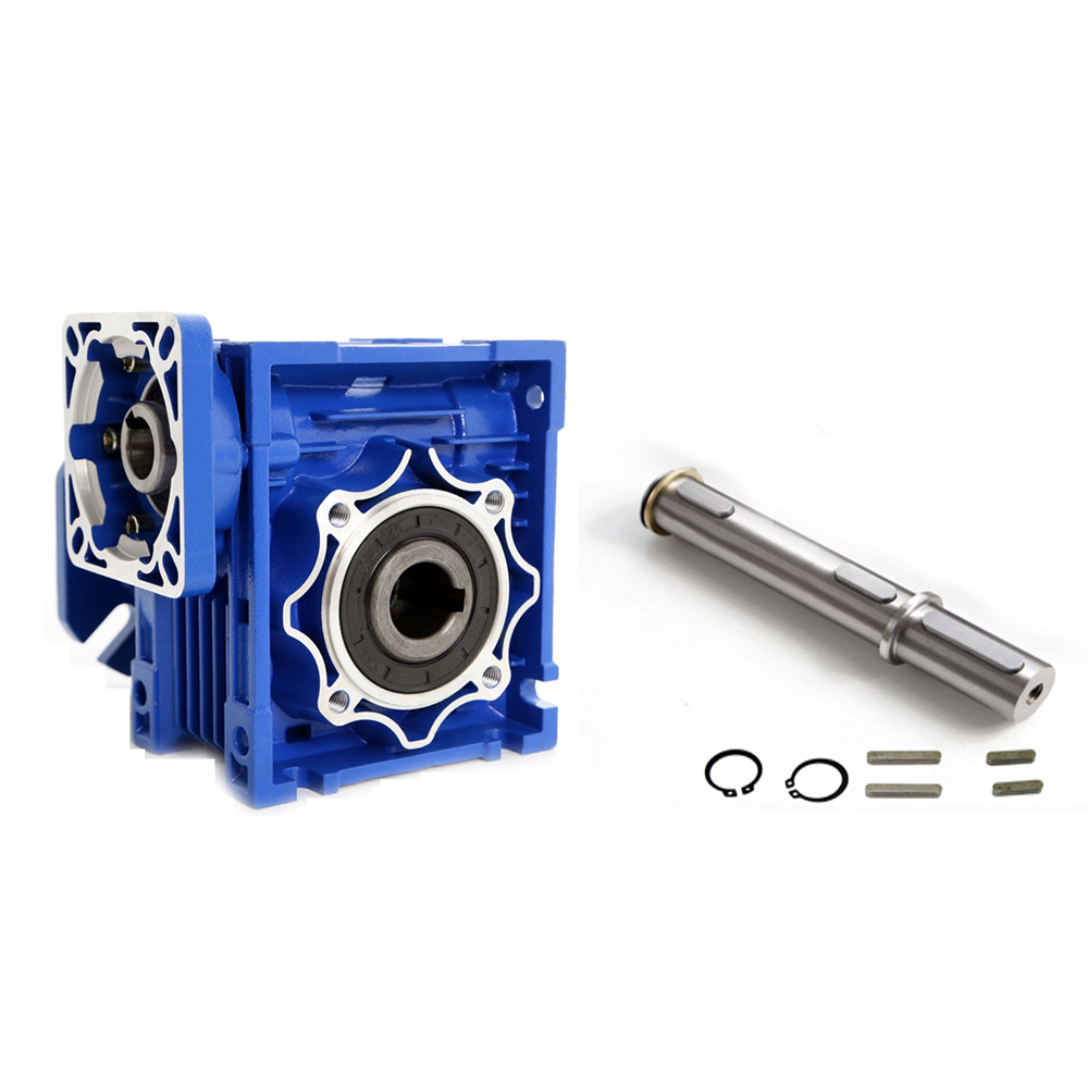 NMRV075 40:1 19mm Single Input Shaft Worm Gear Speed Reducer 90 Degree NEMA42 Matched with Servo/Stepper Motor oil pump oiler kit with worm gear springchainsaw 034 036 ms360 worm