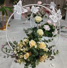 New butterfly moon wedding tie yi geometry road lead T stage wedding beauty Chen decoration props window background wall все цены