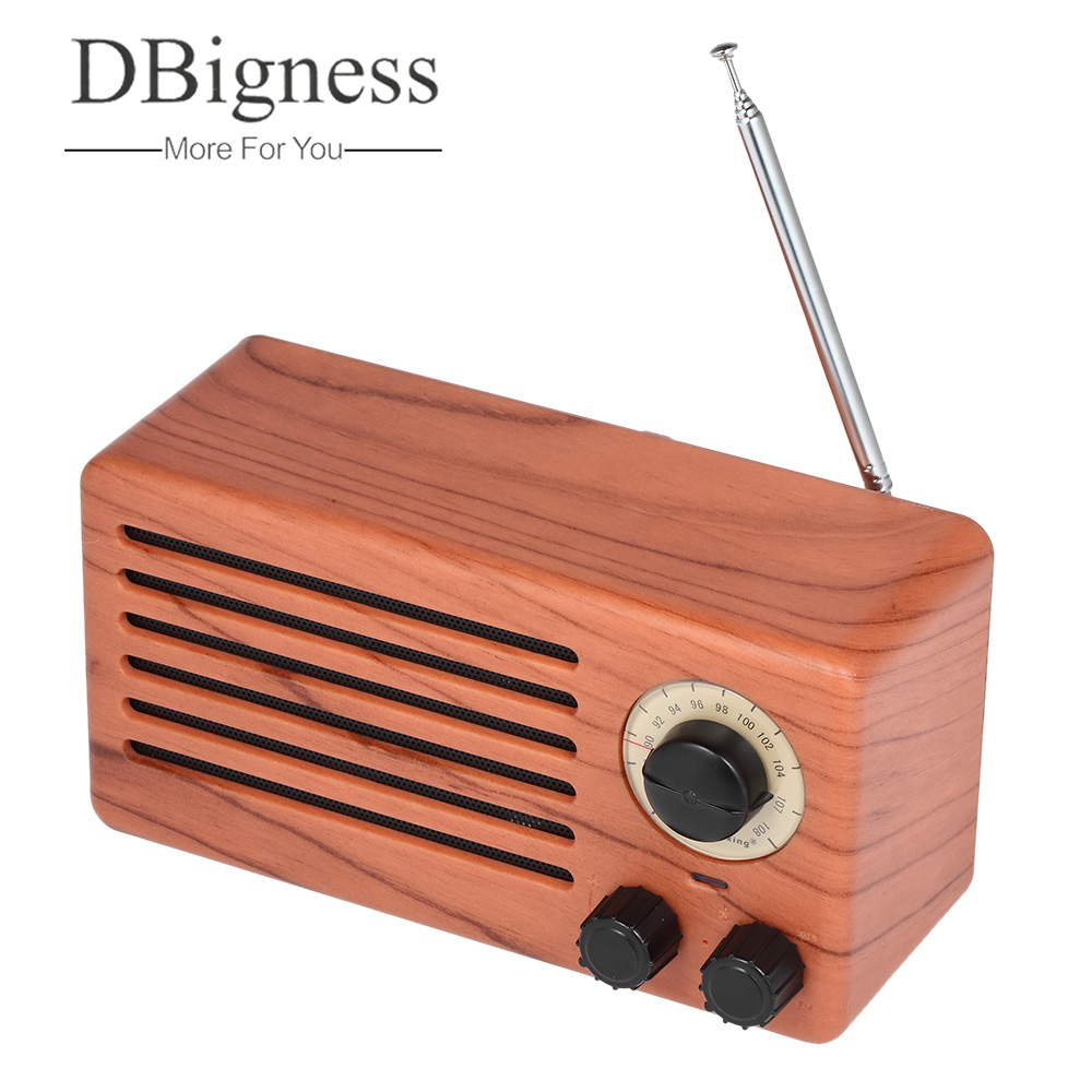 Dbigness Wireless Bluetooth Speaker Wooden Portable Speaker HiFi Home Theater Sound Receiver Stereo Subwoofer TF Radio Speakers wooden bluetooth speaker wireless outdoor handsfree stereo subwoofer portable speakers 3600mah big power 10w 2 speaker