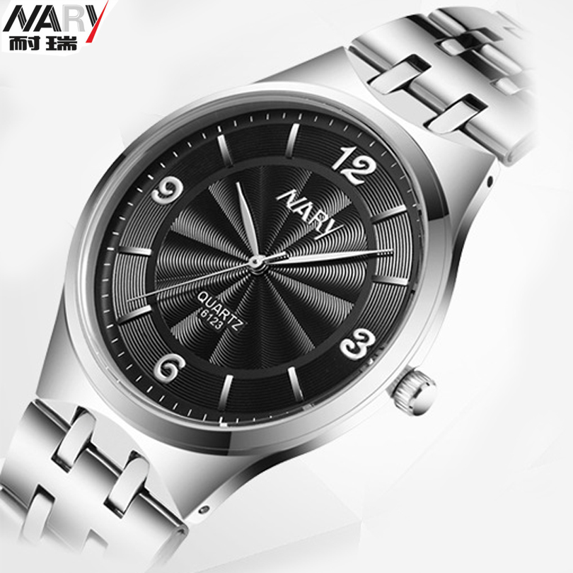 Mens Watches Brand Luxury Nary Original Watch Man Full Steel Quartz Wristwatches Fashion Watches Men Erkek Kol Saati lige mens watches top brand luxury man fashion business quartz watch men sport full steel waterproof clock erkek kol saati box