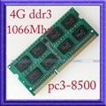 Новый 4 ГБ PC3-8500 DDR3-1066 DDR3 1066 мГц 4 ГБ памяти ноутбука 204PIN баран sodimm 1066 204-pin ноутбук памяти бесплатная доставка