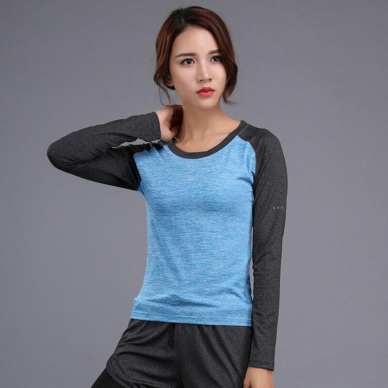 shintimes Tee Shirt Femme 2018 Autumn Women Tshirt O-Neck Long Sleeve Ladies Top T-shirt Women Casual Blue Tshirts Woman Clothes