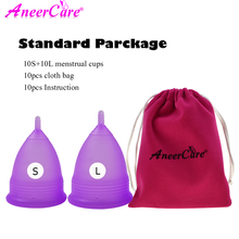 20pcs Menstrual cup for Women Feminine hygiene Medical 100% silicone Cup Menstrual Reusable Lady Vaginal Cup Copa Menstruation 11 11 menstrual cup sterilizer copa menstrual feminine hygiene menstrual cup medical grade silicone lady menstruation aneercare