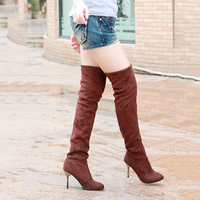 Women Boots High Heels Slim Shoes Fashion Autumn Winter Thigh High Boots Over The Knee Heels