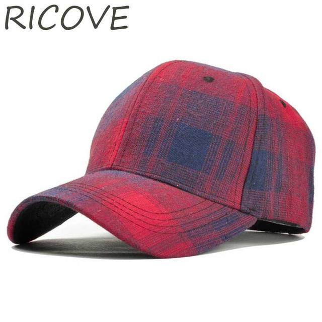 03b5240062e Vintage Snapback Baseball Cap Black Plaid Trucker Dad Hat Women Men Caps  Summer Cotton Hat Fashion