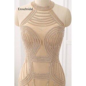Image 3 - אלגנטי ארוך שמלת ערב 2019 חדש בת ים ואגלי ערב שמלת הלטר צבע robe דה soiree במלאי 48 שעה חינם ZC6 2