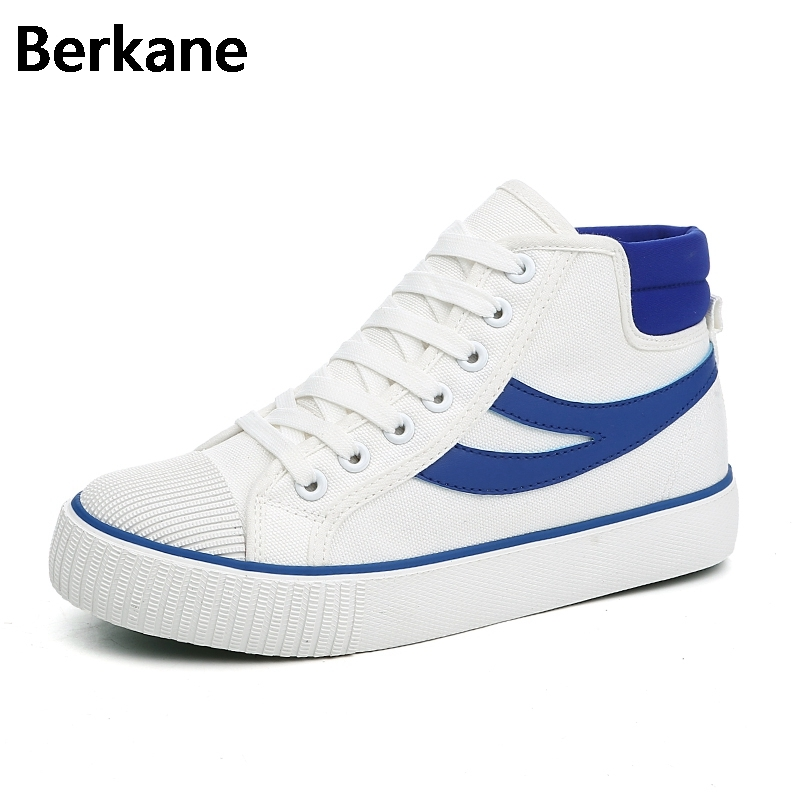 Canvas Shoes Women High Top White Flats 2018 New Arrival Fashion Casual Shoe Woman Leisure Quality Platform Tenis Feminino Hot hot sale 2016 top quality brand shoes for men fashion casual shoes teenagers flat walking shoes high top canvas shoes zatapos