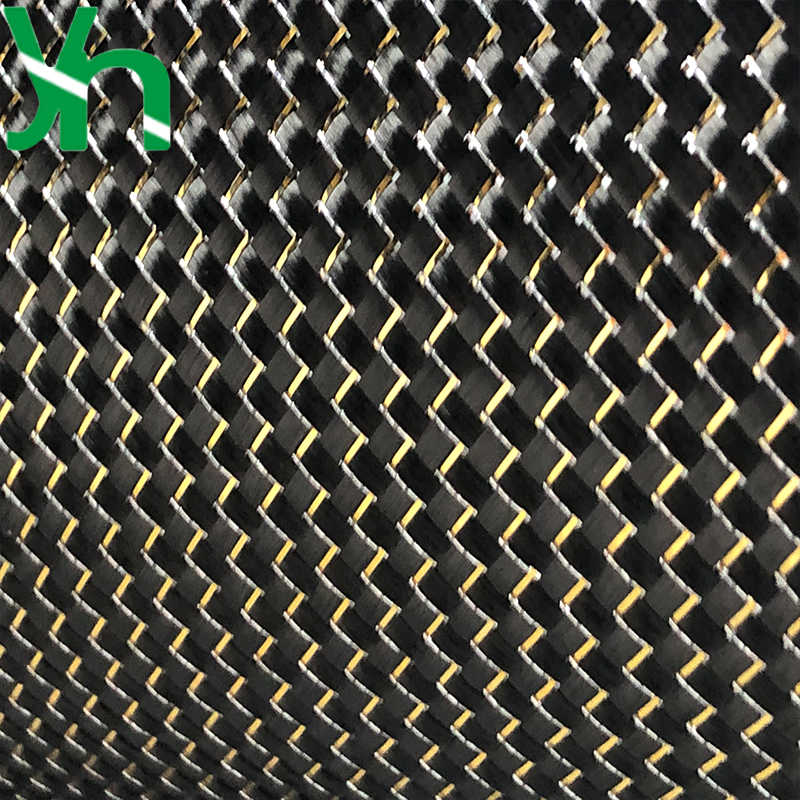 Carbone tissu fibre de carbone, or et argent fil, 3 K 200gsm, largeur 1 m, planche à roulettes/planche de surf modification 0.25mm épaisseur tissu uni