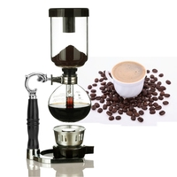 5 Cups Cold Drip Coffee Maker Iced Drip Coffee Pot Percolators Glass Hourglass Coffee Pot Cold Brew Water Ice Drip Coffee Maker