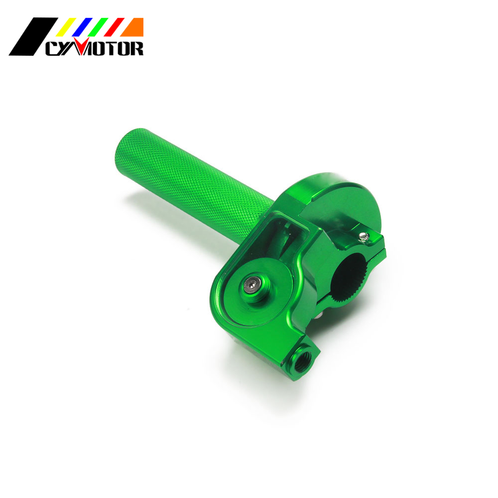 22 MM 7/8 ''CNC en aluminium Tube d'accélérateur pince torsion pour YZ YZF CR CRF KX KXF KLX RM RMZ 125 150 200 250 300 350 400 450 Dirt Bike