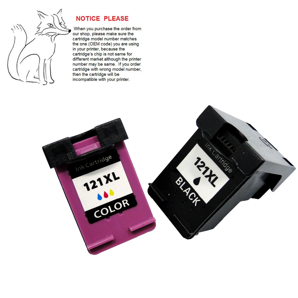 ink cartridge for hp 121 hp121 XL for hp Deskjet D2563 D1663 D2663 D5563 F2530 F2545