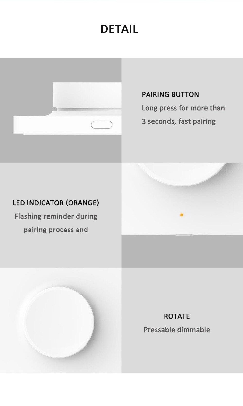 interruptor de parede sem fio bluetooth controle remoto para yeelight luz teto