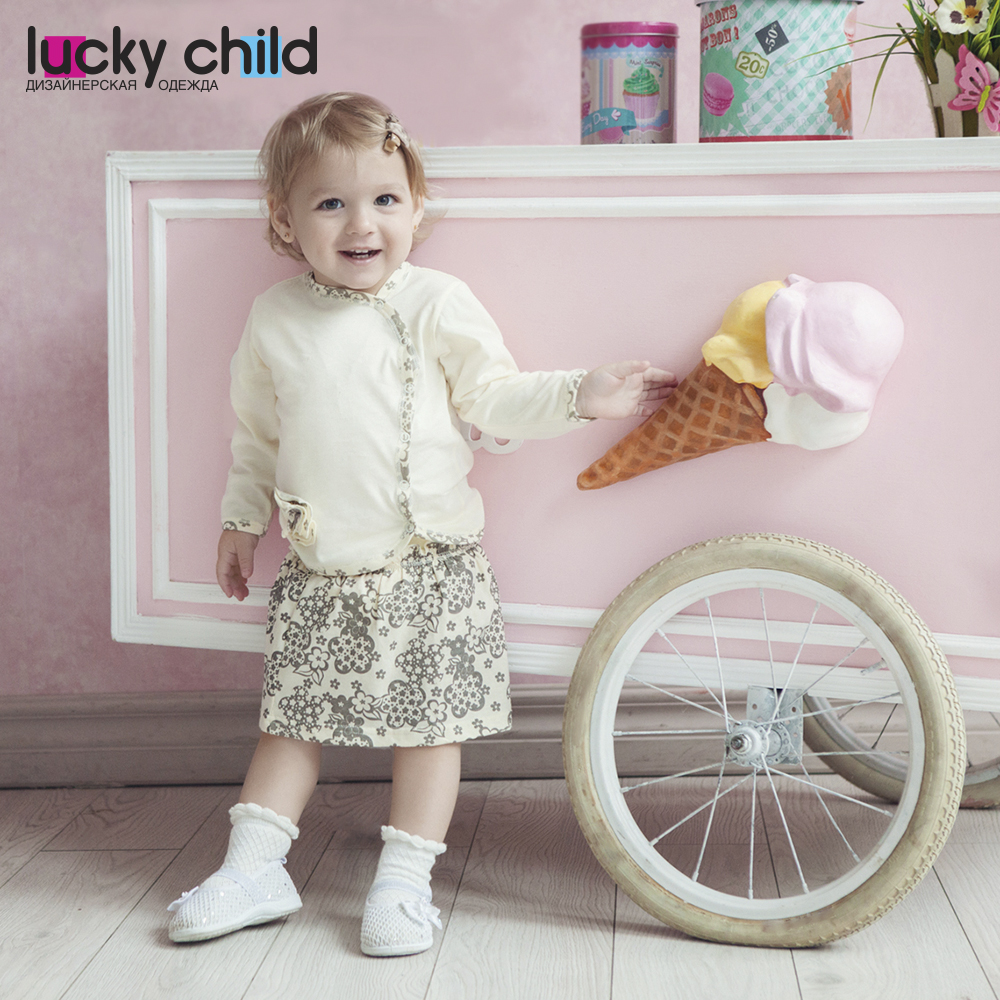 Baby's loose jacket Lucky Child for girls 11-17 Flowers Kids Sweatshirt Baby clothing Children clothes Hoodies & Sweatshirts clothing set 2017 spring girls clothes jacket floral zipper kids hoodies pants kids tracksuit for girls clothing sets sport suit