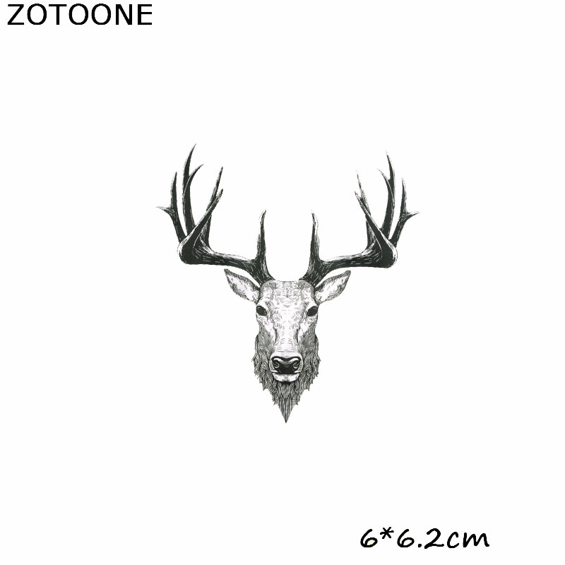 ZOTOONE Iron Patches for Clothing Diy Patch Cartoon Cow Head Stick On Heat Transfers for Clothes heat transfer stickers in Patches from Home Garden