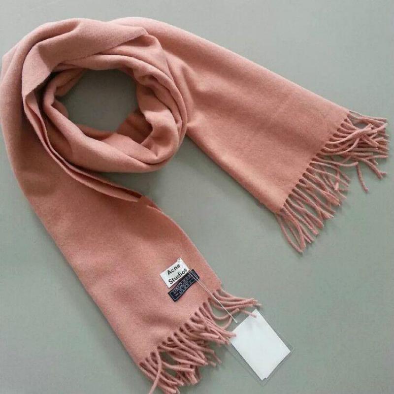 Women Shawls 2019 New Shawl Wool Muffler   Scarf   Cashmere   Scarves     Wrap   Tassels Warm Pashmina Solid Mujer Bufanda Long 200*70CM