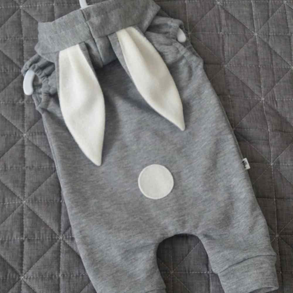 2019 Одежда для новорожденных мальчиков и девочек милый комбинезон с объемными заячьими ушками, комбинезон, осенне-зимний теплый цельнокроеный комбинезон Bebes