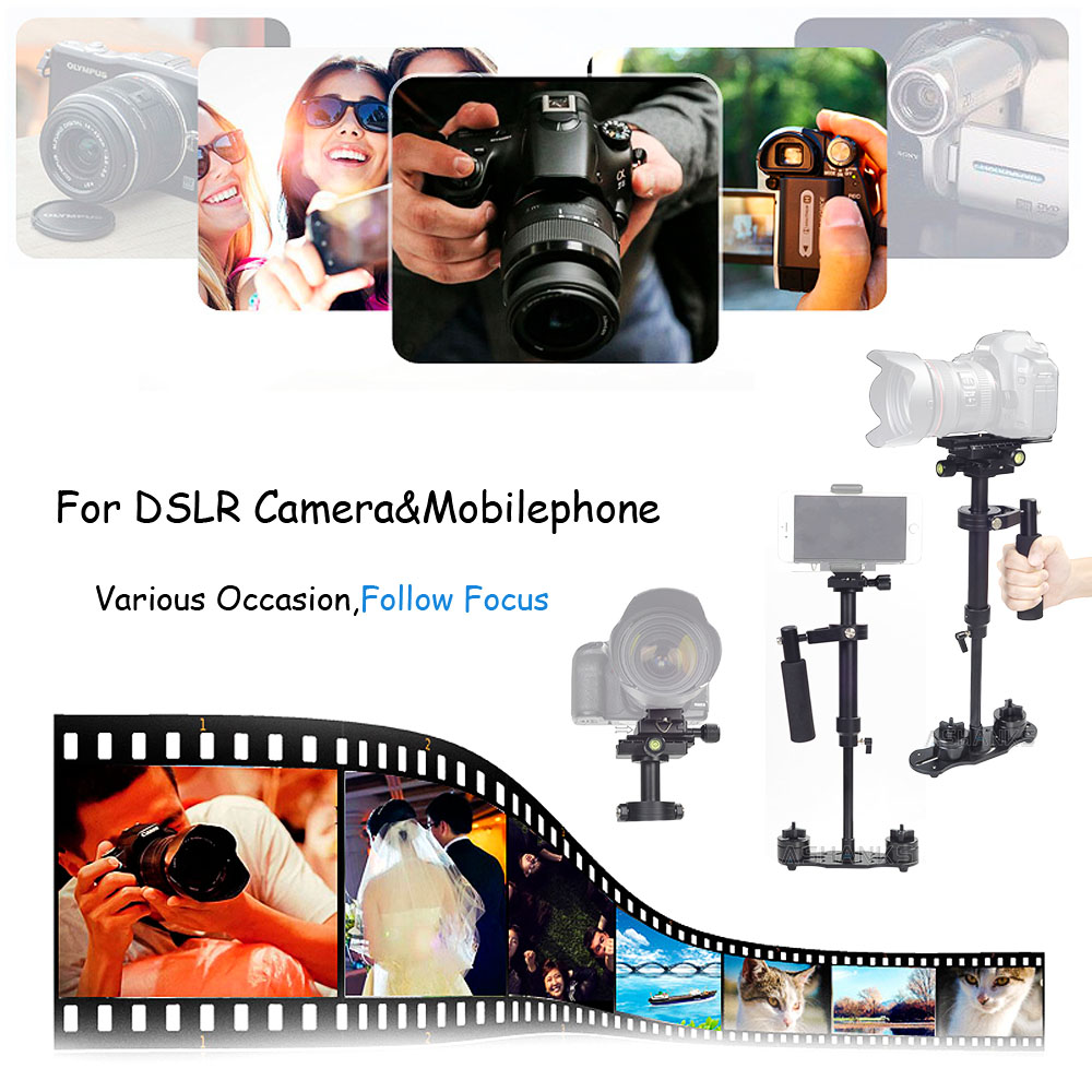 Image 5 - S60 Handheld Steadycam DSLR Camera Stabilizer S 60 +Plus 3.5kg 60cm Camcorder Aluminum Steadicam for Photography Film Video DHL-in Photo Studio Accessories from Consumer Electronics