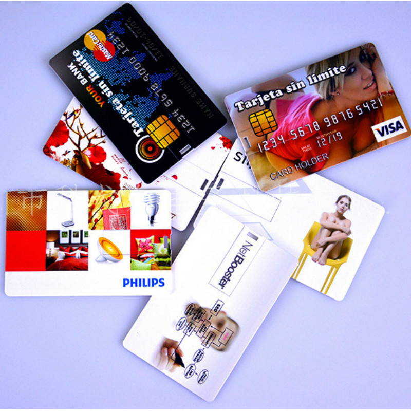 Wholesales 30pcs Lot Promotional Gifts 4gb 8gb 16gb Ultra Thin Credit Card Shaped Customized Logo Business