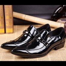 Christia Bella Luxus Italienisch Formal Männer Kleid Schuhe Aus Echtem Leder Schuhe Schwarz Spitz Geschäfts Hochzeit Schuhe Männer Wohnungen
