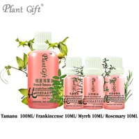 100% Pure Plant Base Oil Skin Care Essential Oils Tamanu / Frankincense / Myrrh / Rosemary Oil DIY Handmade Soap Raw Materials
