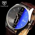 2016 Venta Caliente Marca YAZOLE Auto Fecha Reloj de Cuarzo-Reloj de Los Hombres Reloj de La Manera de Cristal Azul de Negocios Hombre Reloj Hora Relojes a prueba de agua