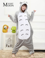 2016 New Design Funny Cute Adults Totoro Pajamas Onesie Cartoon Animal Hooded Stitch Unisex Women Men