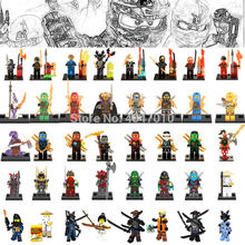 Legoing Ninjago Figure Blocks Toy Ninja Movie Doll Master Wu Jie Kai Lloyd Card Run Snake DIY Toys For Children Ninjago Legoings(China)