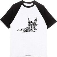 חידוש סקסי ילדה Cartoon חולצת טריקו אופנה חולצה שרוול קרוע של גברים כותנה היפ הופ חולצת O-צוואר טיז Streetwear לשני המינים