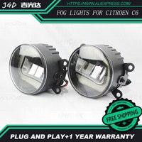 לסיטרואן c6 LR2 סטיילינג מכונית פגוש הקדמי LED ערפל אורות ערפל בהירות גבוה מנורות 1 set