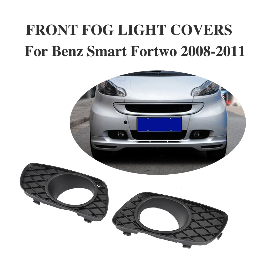 2PCS/Set Front Bumper Fog Light Covers Lamp Masks Fit For Benz Smart Fortwo 2008-2011 front lamps day light led for benz smart fortwo 2008 to 2011