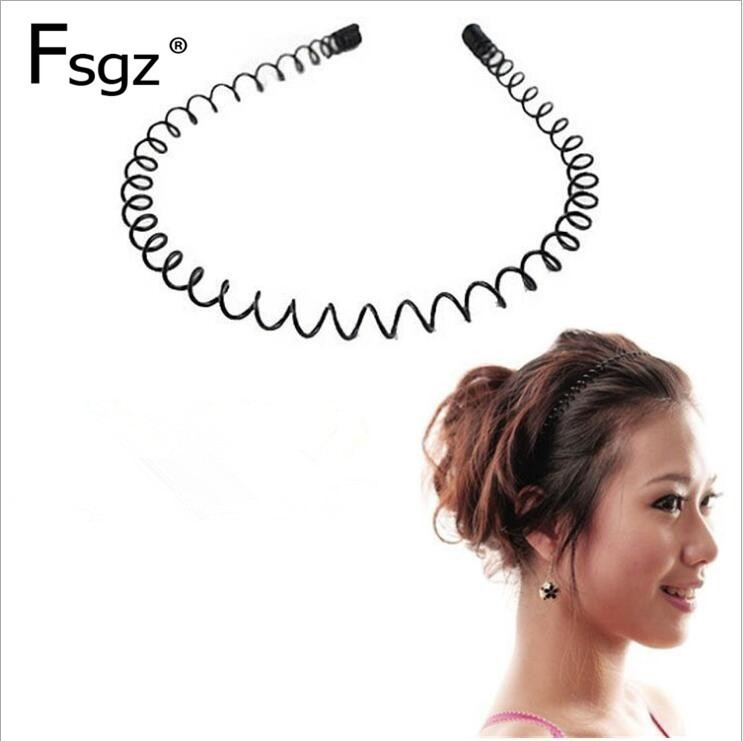 Fashion Beckham Simple Spiral Hairbands  helical spring Alice band graceful Design Head Wear 20pcs/lot