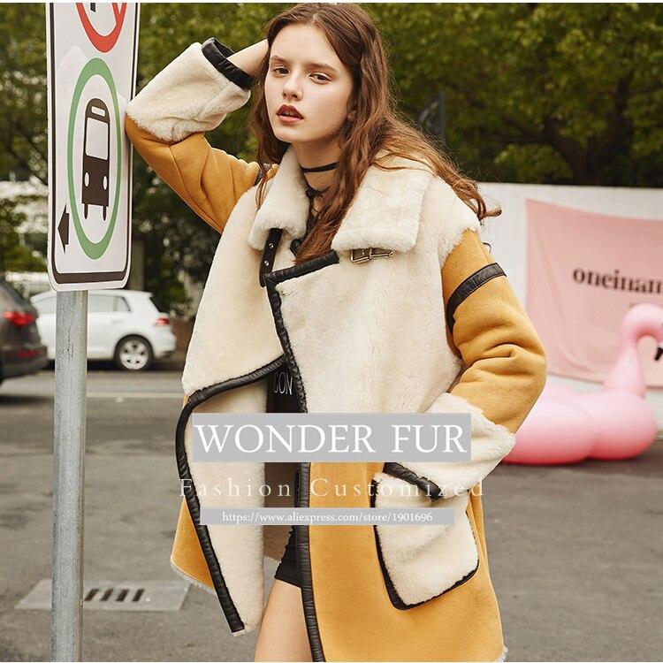 New Arrival Sheepskin And Fur Jacket Women's Trend Style Merino Sheep - Women's Clothing