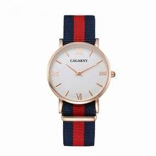 36 MM cinta de nylon business casual mulheres relógio NATO com a marca de luxo relógio de quartzo