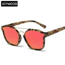 JOYMOOD New Fashion Cat Eye Sunglasses Women Brand Designer Colorful Mirror Glasses Alloy Legs Twin Beam Metal Frame Glasses