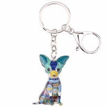 Dog-Themed Chihuahua Pattern Colorful Key Chain Accessories