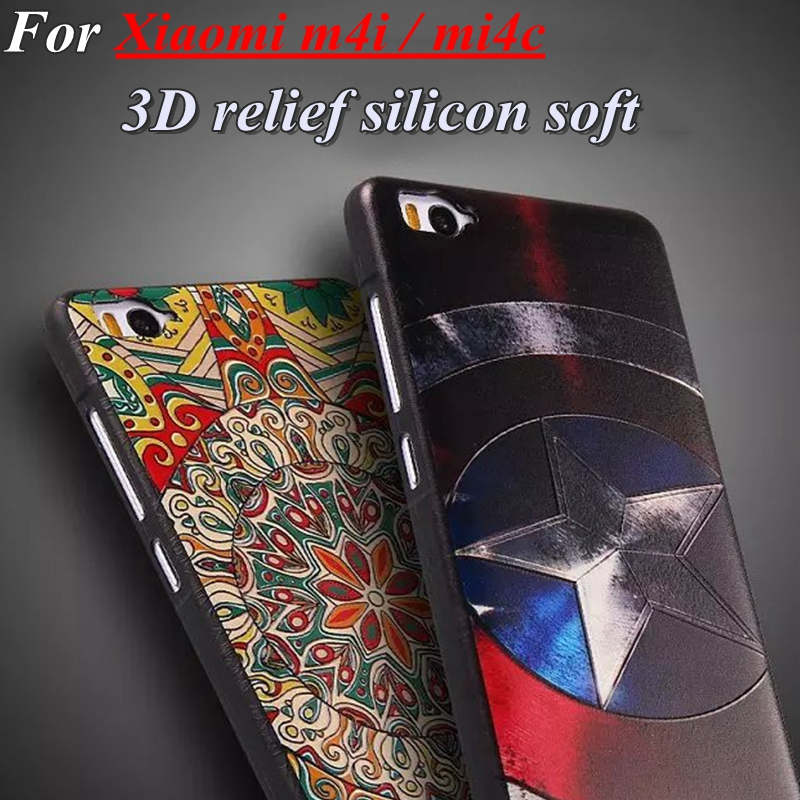 Caso NUEVO de La Manera 3D Estéreo alivio Mi4C silicio suave Cubierta de coque c