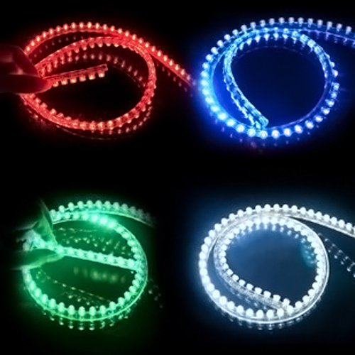 120cm 12V Car Flexible LED Strip Light Motorcycle Auto Waterproof  For chassis license plate frame interior car decoration light 8pcs white car motorcycle auto interior waterproof flexible lighting 30cm 15 smd led 3528 strip light 12v