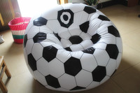 Fashion Football Style Single Leisure Inflatable Sofa With Air Pump