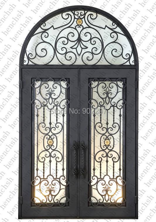 Iron And Glass Front Door Black Wrought Iron Doors