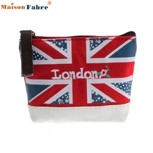 High quality Union Jack Embroidered Admission Package Canvas Coin Purse Hand Bag