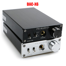 FX-AUDIO DAC-X6 HiFi 2.0 Digital Audio Decoder DAC Input USB/Coaxial/Optical Output RCA/Headphone Amplifier 16Bit/192KHz DC12V 2017 new version topping d3 24bit 192khz usb optical coaxial bnc dac headphone amp amplifier black