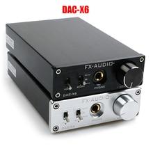 FX AUDIO DAC X6 HiFi 2.0 Digital Audio Decoder DAC USB/Coaxial/Optical เอาต์พุต RCA/เครื่องขยายเสียง 24Bit/ 96KHz DC12V