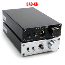 جهاز فك ترميز الصوت الرقمي HiFi 2.0 FX AUDIO DAC مدخل USB/محوري/مخرج بصري RCA/مضخم 24Bit/96KHz DC12V DAC X6